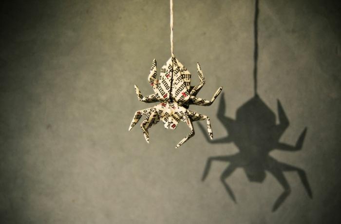 weihnachtsbasteln bastelideen kleine spinne