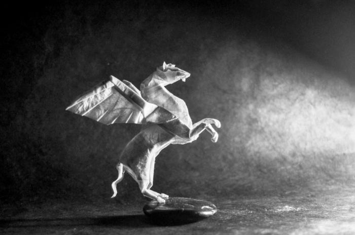 weihnachtsbasteln bastelideen pferd mit flügeln