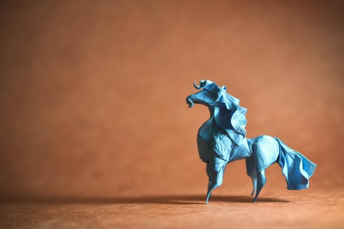 weihnachtsbasteln bastelideen pferd