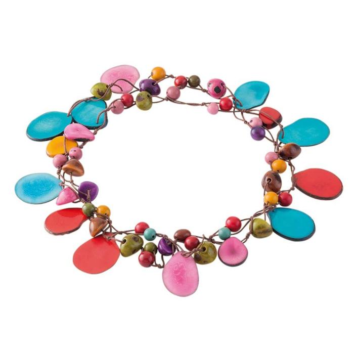 weihnachtsgeschenkideen fair trade halskette tagua steine dwp