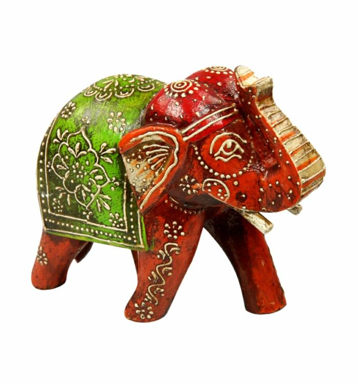 weihnachtsgeschenkideen fair trade kunstwerk elefant raga rot gepa