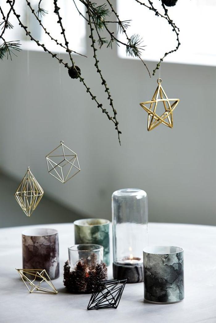weihnachtsschmuck skandinavisch geometrische weihnachtsornamante