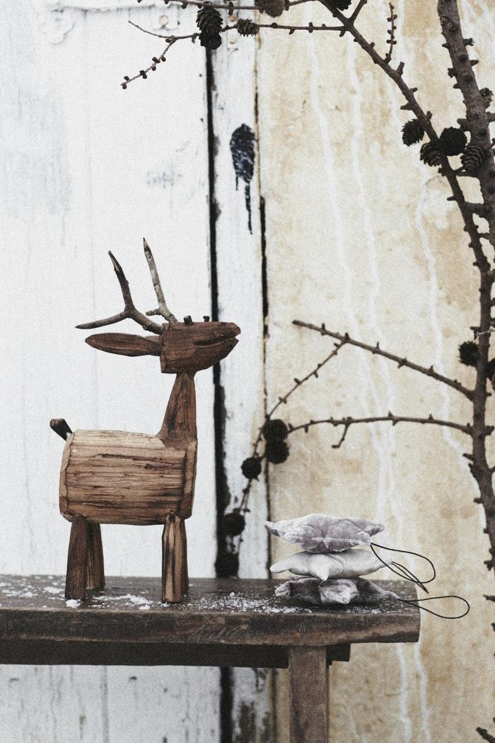 weihnachtsschmuck skandinavischer stil holz rustikal
