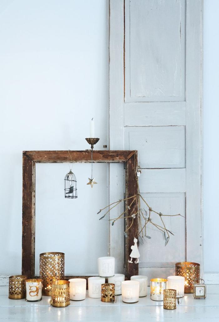weihnachtsschmuck skandinavischer stil rustikal kerzen