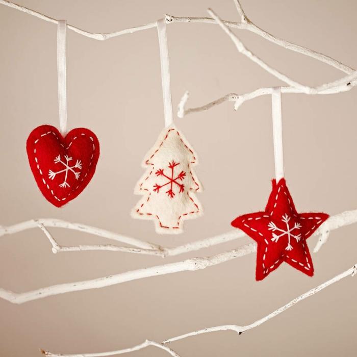 weihnachtsschmuck skandinavischer stil weihnachtsornamante stern tanne herz