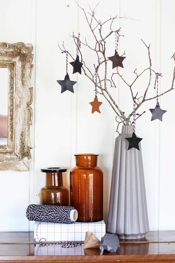 weihnachtsschmuck skandinavischer stil zweige sterne