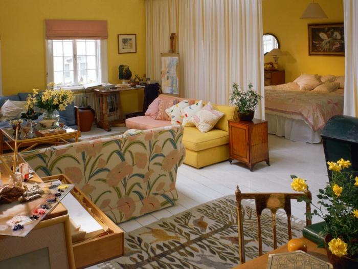 kleines wohnzimmer einrichten beispiele wohnzimmer landhausstil das gemtlich gestalten - Wandfarbe Kleines Wohnzimmer