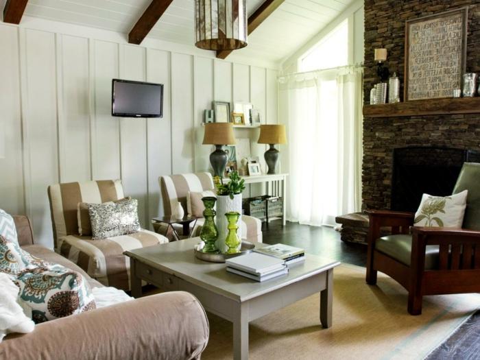 Wohnzimmer Landhausstil Farben