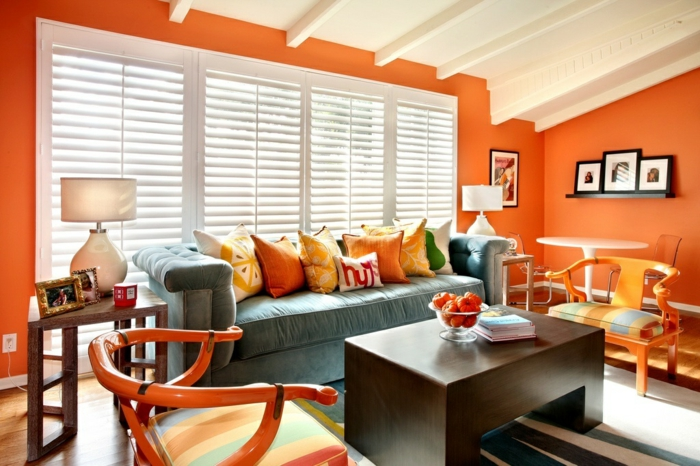 Wände Streichen Ideen Wohnzimmer Lila Violett Pink Blau Pictures to