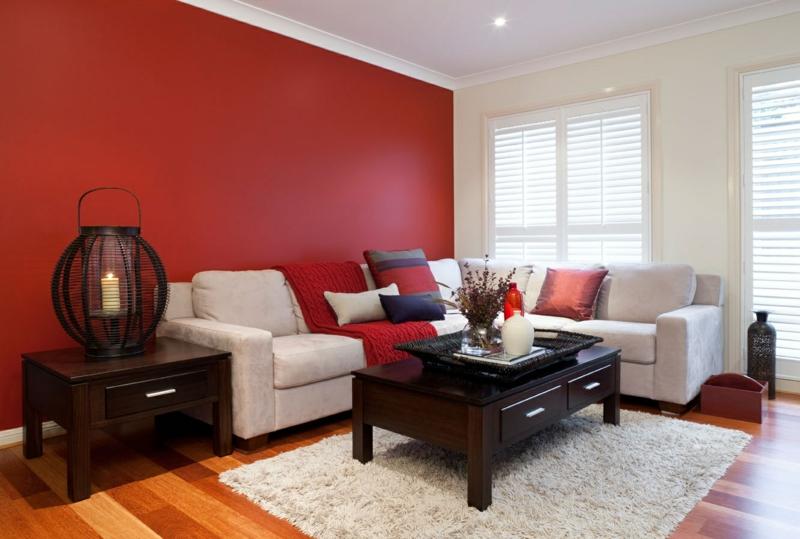 wohnzimmer wandfarbe warme wandfarben rot moderne wandfarben