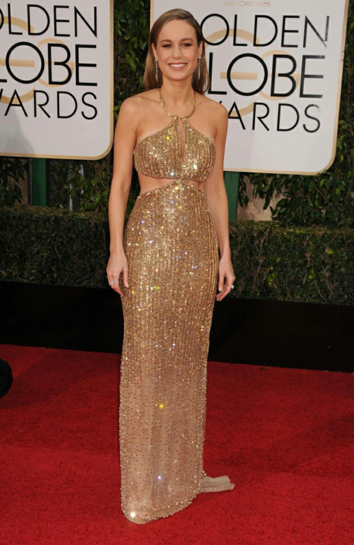 Abendkleider lang Golden Globes 2016 brie larson