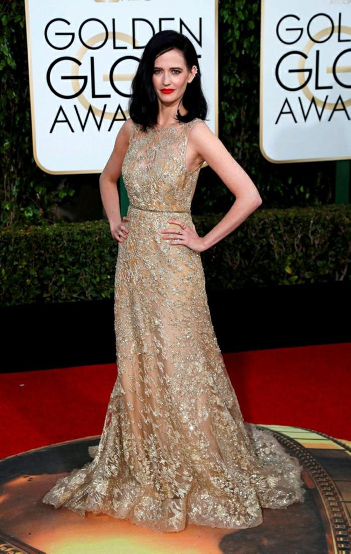 Abendkleider lang Golden Globes 2016 eva green