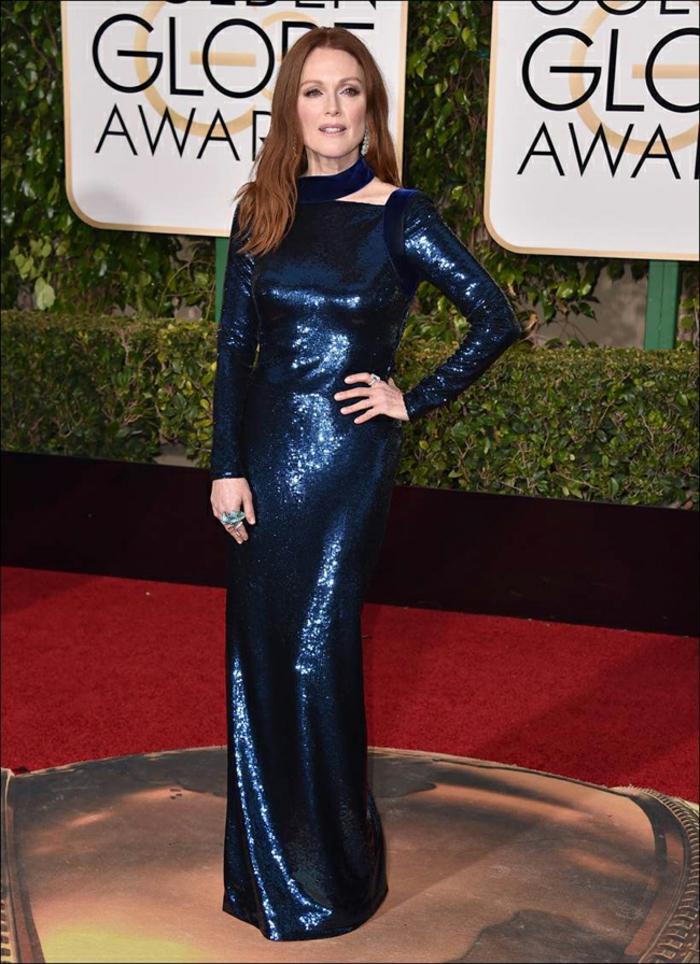 Abendkleider lang Golden Globes 2016 julianne moore tomford