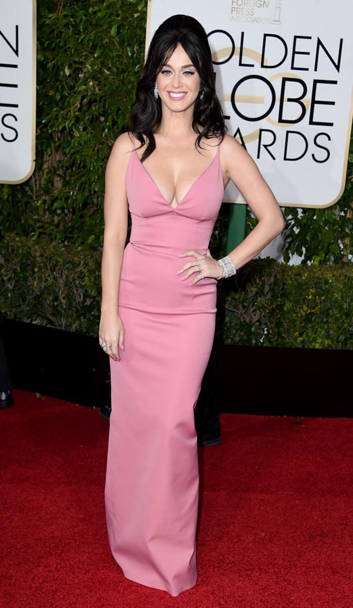 Abendkleider lang Golden Globes 2016 katy perry