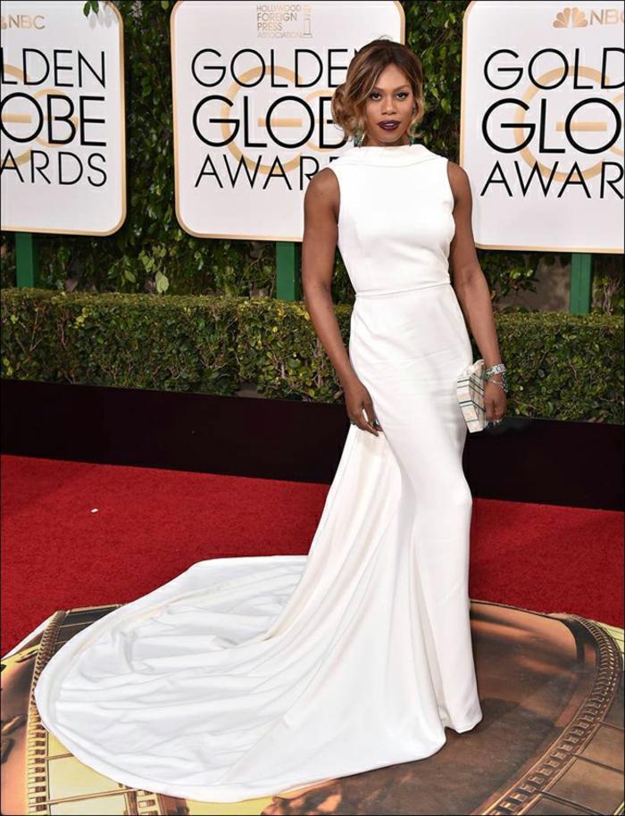 Abendkleider lang Golden Globes 2016 laverne cox Elizabeth Kennedy