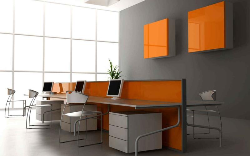 Arbeitszimmer einrichten Home Office Wandfarben kombinieren