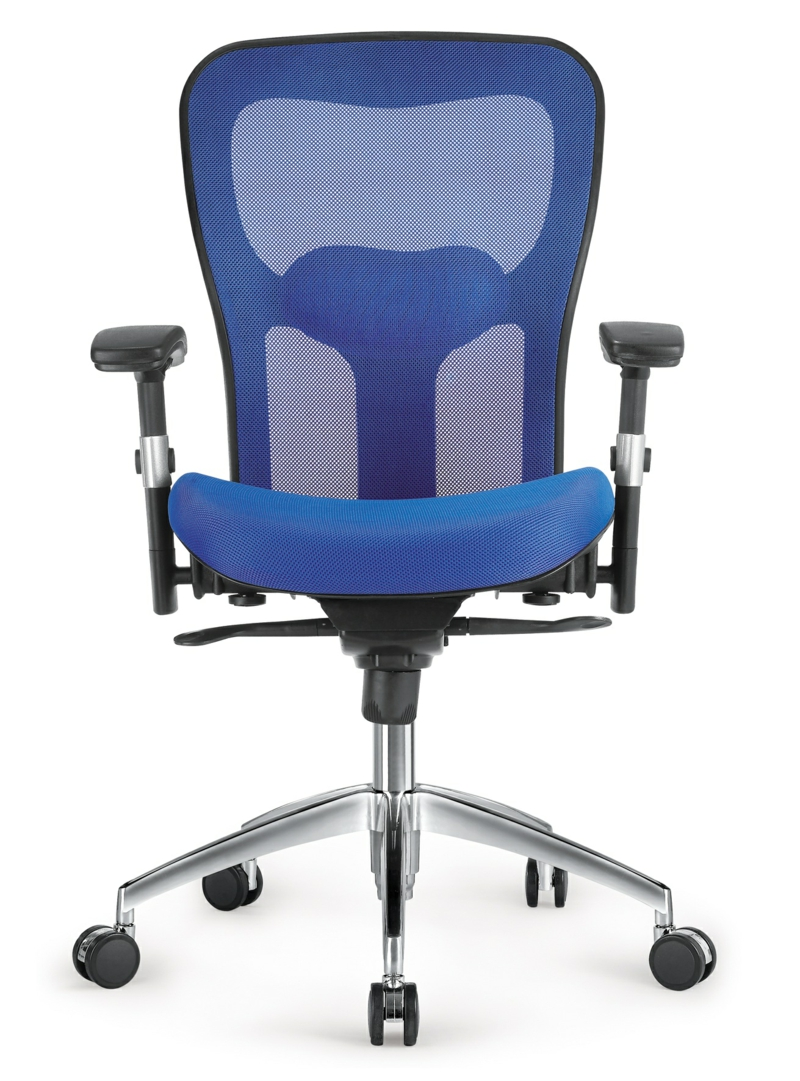 Bürostuhl Test ergonomischer Schreibtischstuhl blau