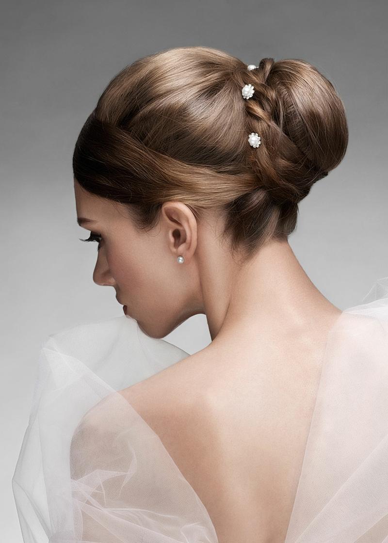 Brautfrisur Ideen Hochsteckfrisur Haaracessoires