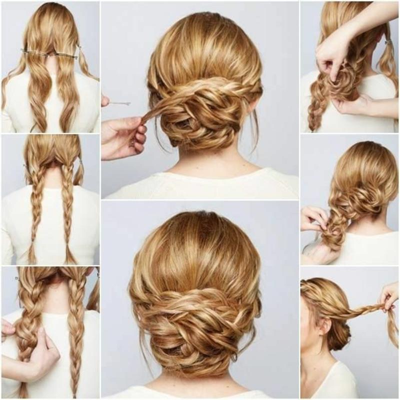 Brautfrisur selber machen Schritt für Schritt lange Haare