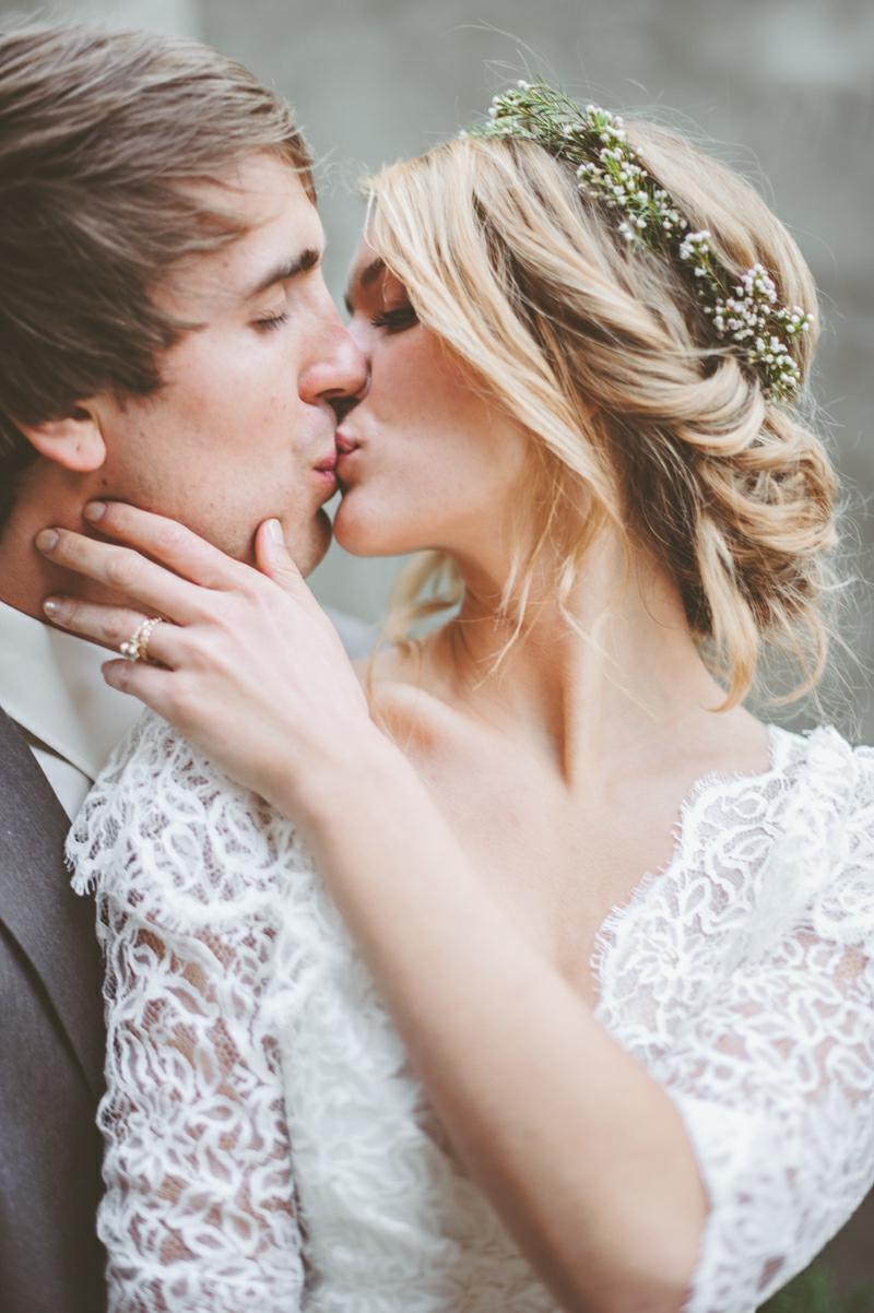 Brautfrisuren geflochten für lange Haare Hochzeitstag
