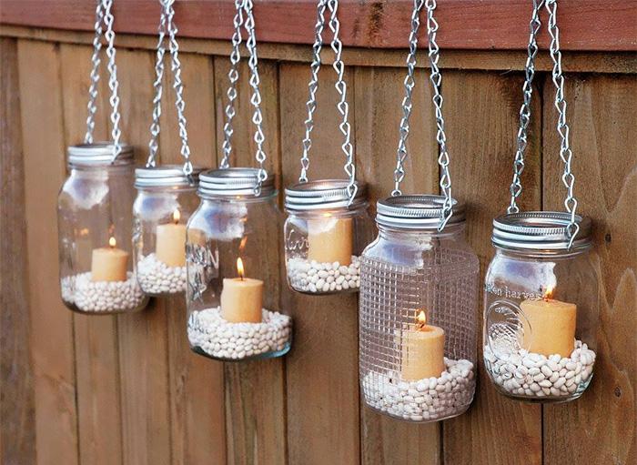 upcycling ideen kuechenutensilien aus alt macht neu Coole Bastelideen DIY bastelideen alte küchenkrams einmachglas laterne