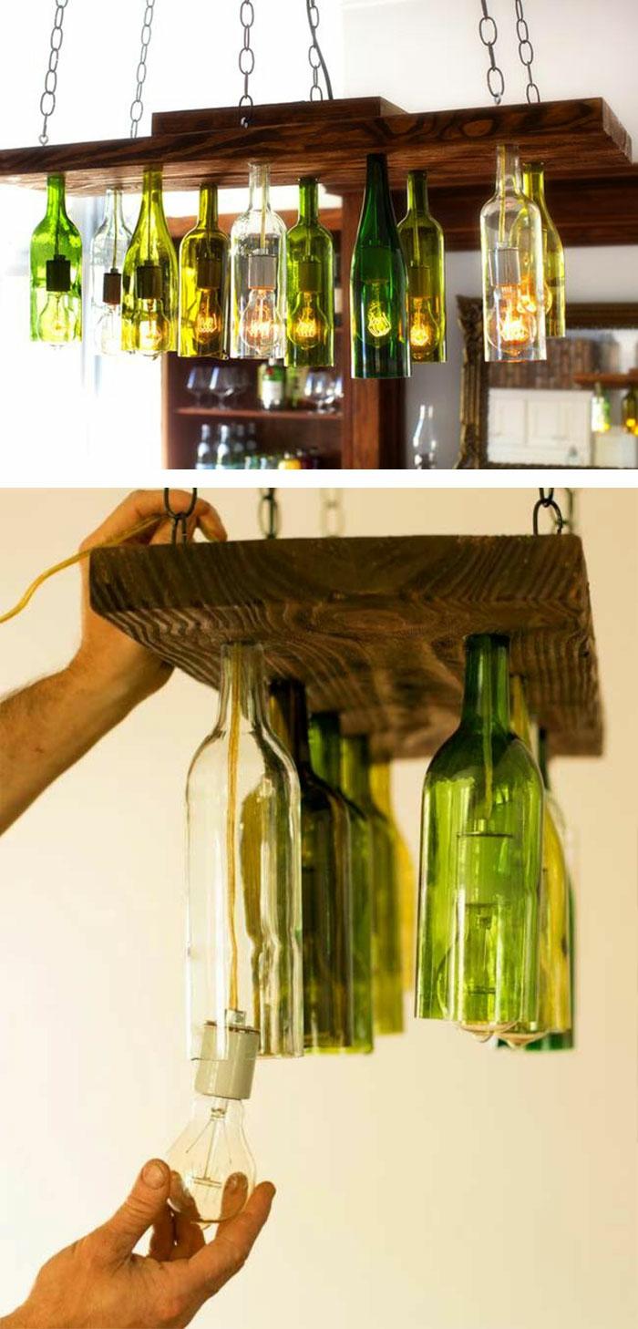 upcycling ideen kuechenutensilien aus alt macht neu Coole Bastelideen DIY bastelideen alte küchenkrams glasflaschen