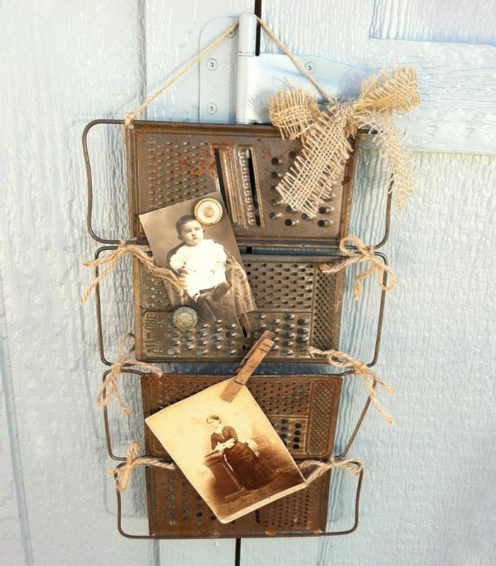 upcycling ideen kuechenutensilien aus alt macht neu Coole Bastelideen DIY bastelideen alte küchenkrams reibe bilder galerie