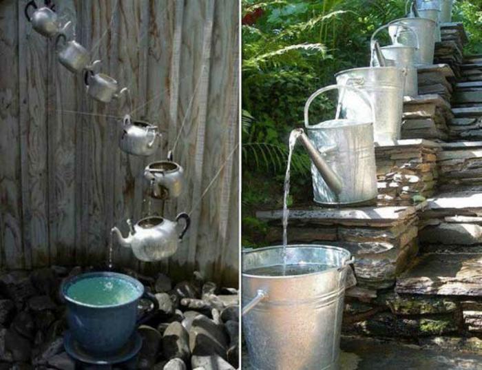 upcycling ideen kuechenutensilien aus alt macht neu Bastelideen DIY bastelideen alte küchenkrams teekessel