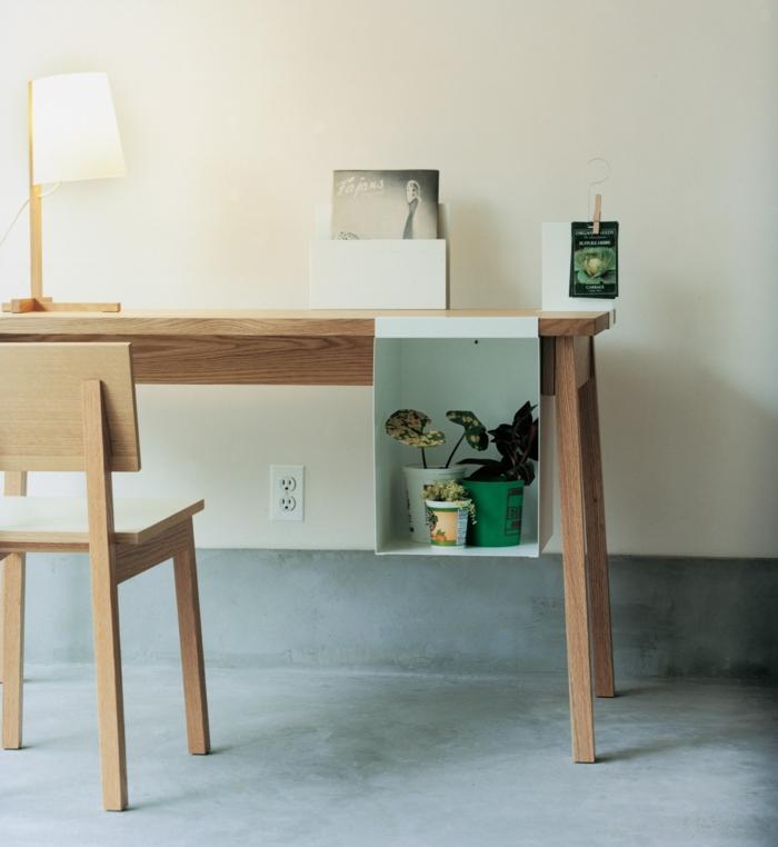 DIY Schreibtisch selber bauen Holzmöbel Arbeitstisch Stuhl