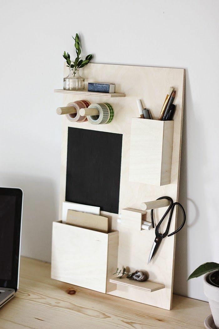 DIY Schreibtisch selber bauen Homeoffice Wohnaccessoires selbst gebaut