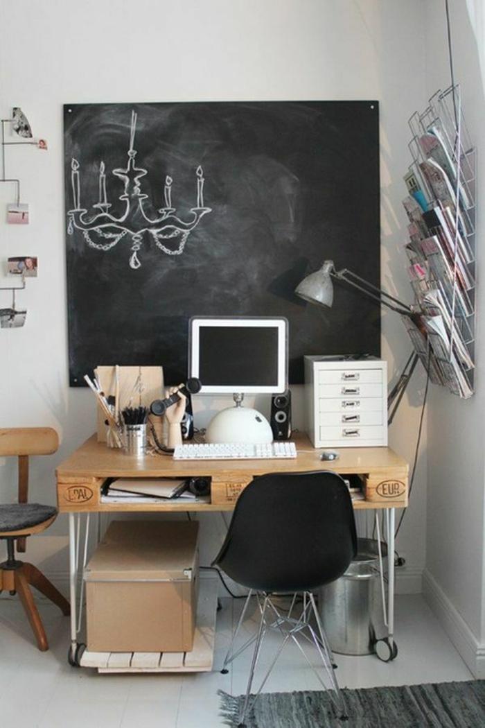 DIY Schreibtisch selber bauen Möbel aus Paletten