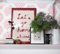 45 Kamin Deko Ideen: So können Sie den Kaminsims kreativ dekorieren