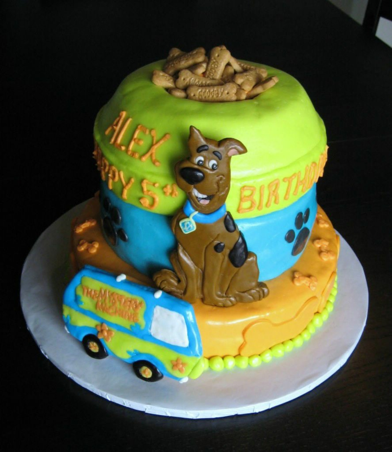 Geburtstagstorten Bilder Kindergeburtstagstorten Scooby Doo Tortendeko