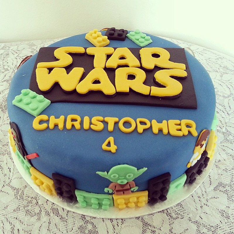 Permalink to Star Wars Birthday Cake
