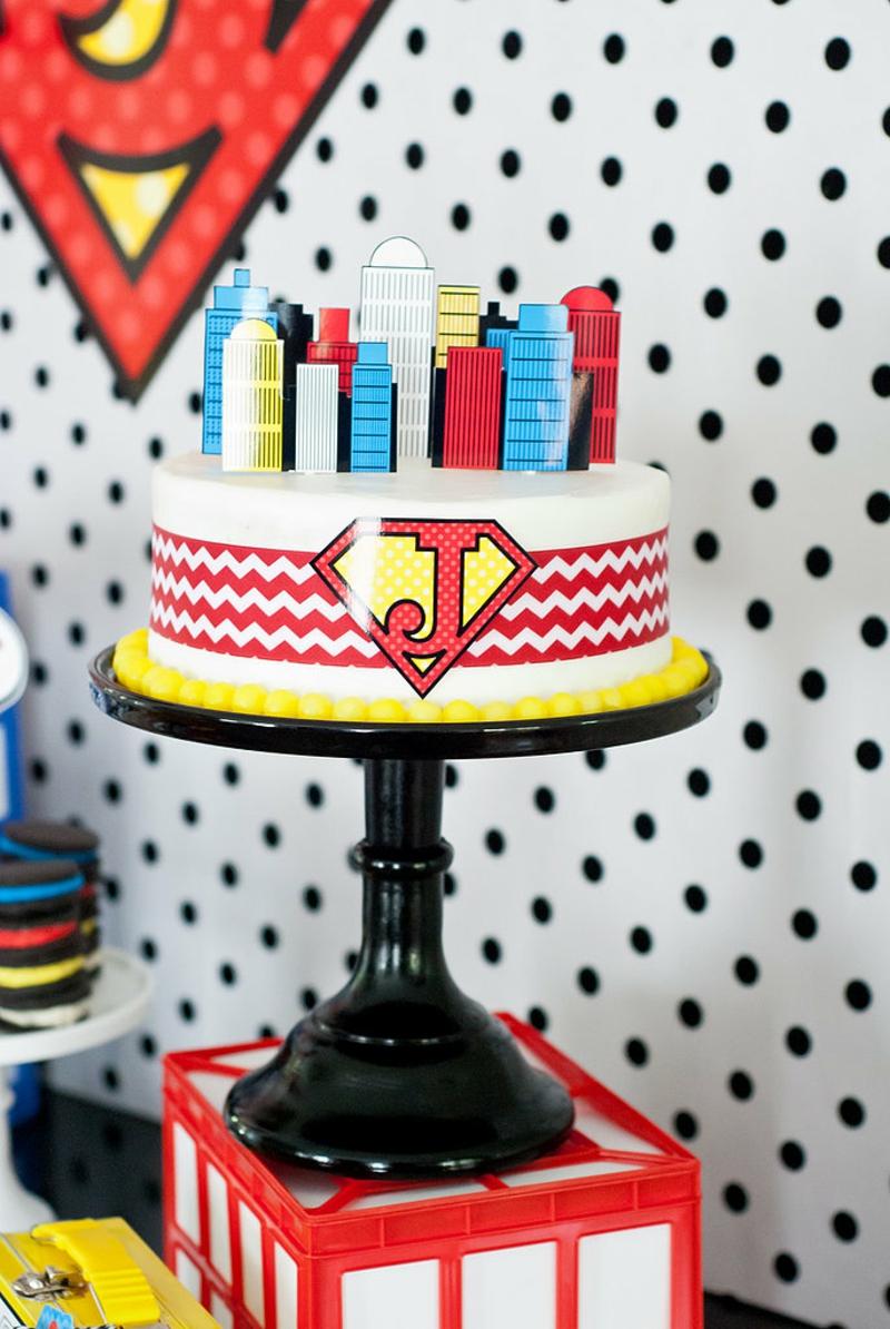 Geburtstagstorte Bilder Kindergeburtstagstorten Superman Symbol