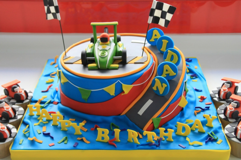 How To Make A Racing Car Birthday Cake