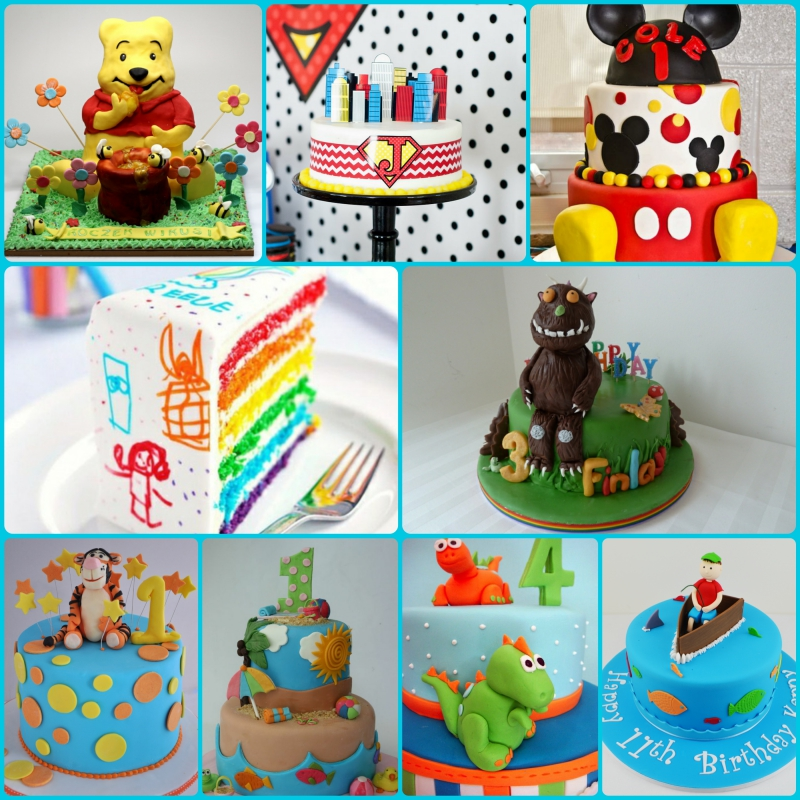 Black White Cake Designs