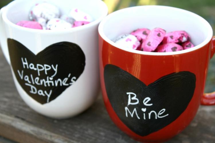 Geschenke zum Valentinstag schöne Liebesrklärung Tassen