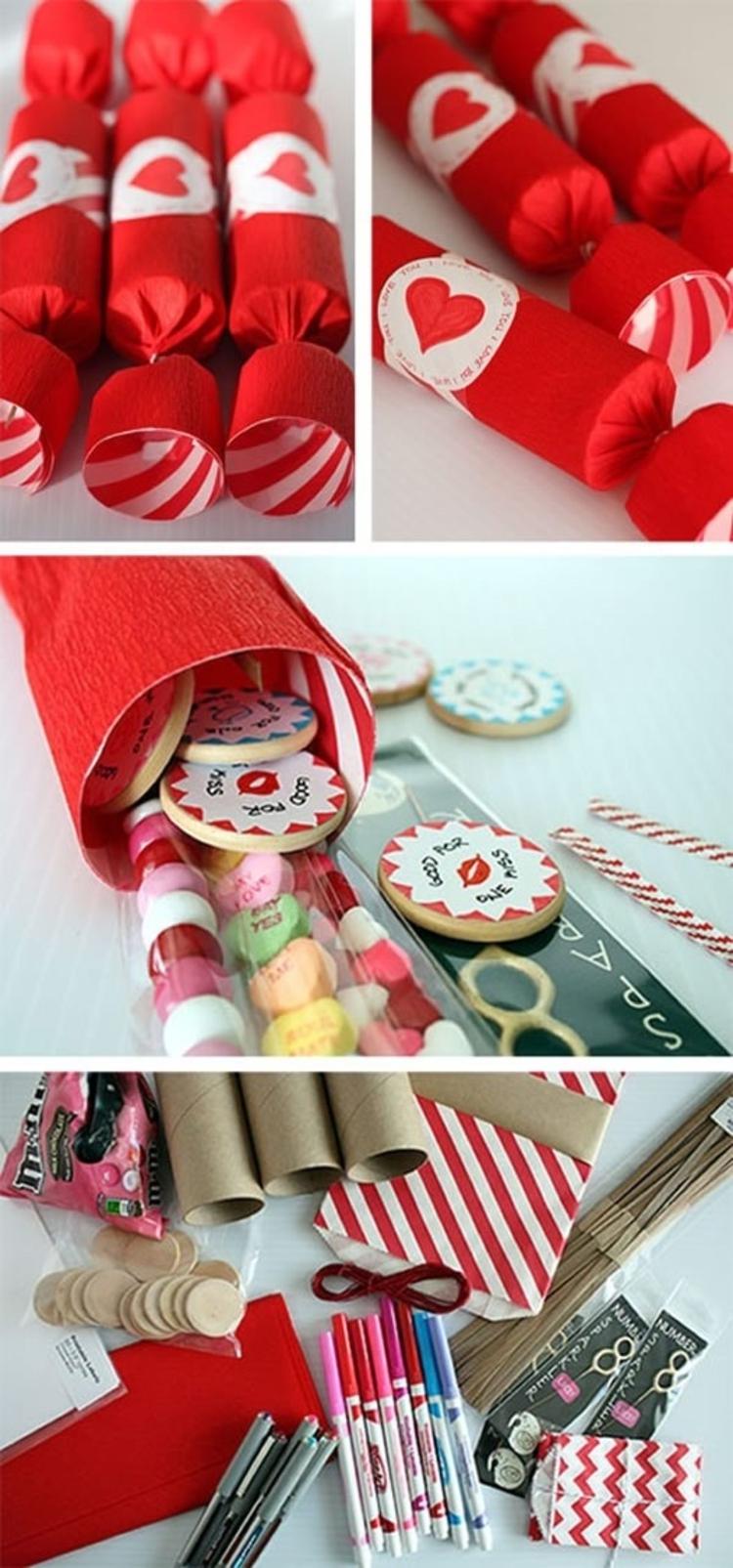 Geschenke zum Valentinstag selber machen DIY Geschenkideen