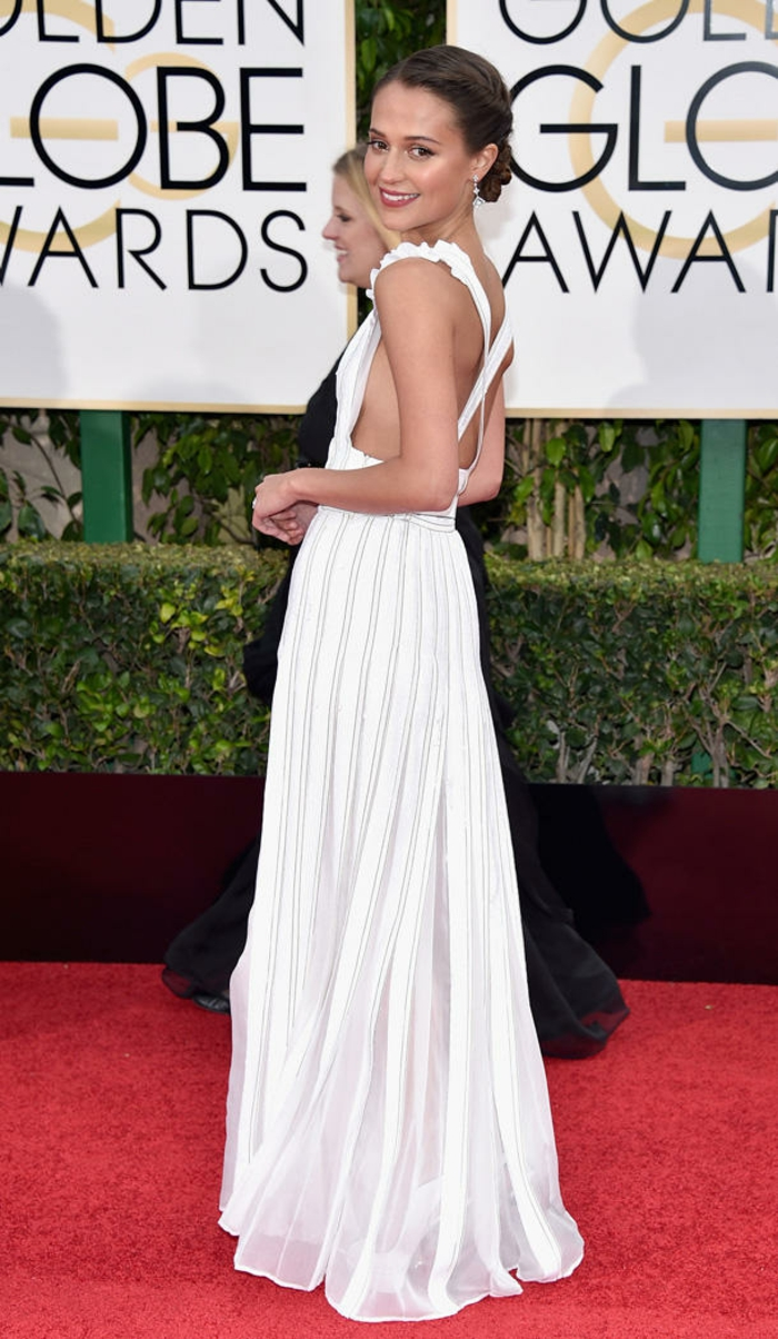 Golden Globes 2016 Abendkleider lang alicia vikander