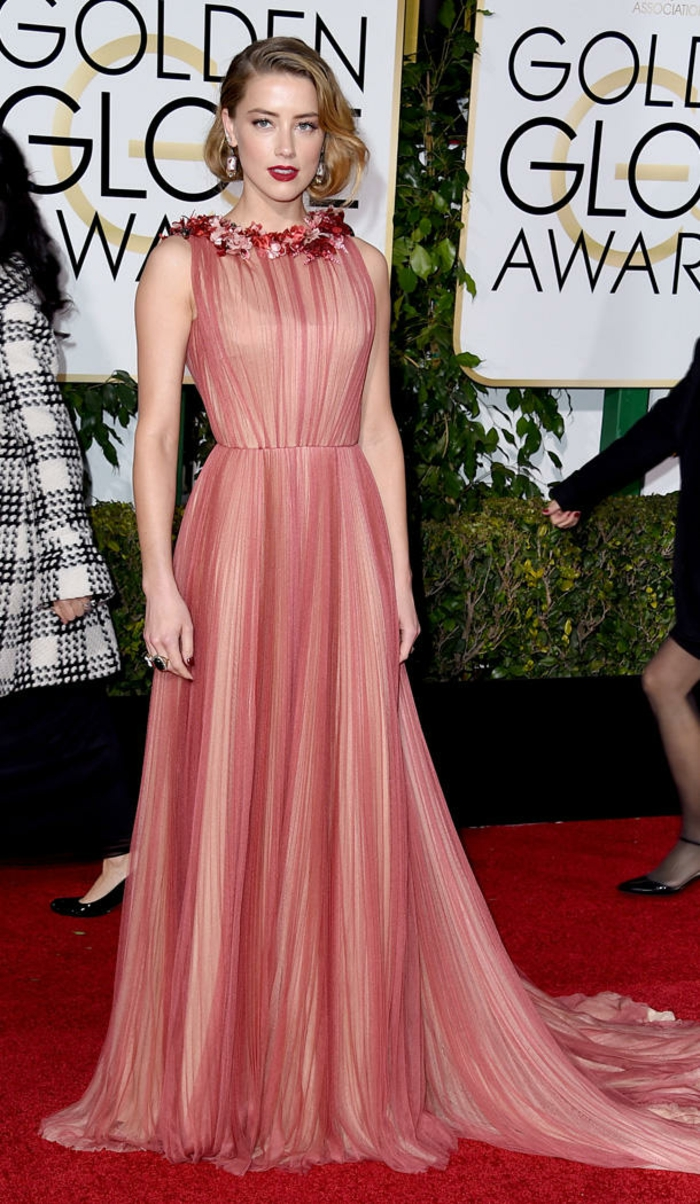 Golden Globes 2016 Abendkleider lang amber heard