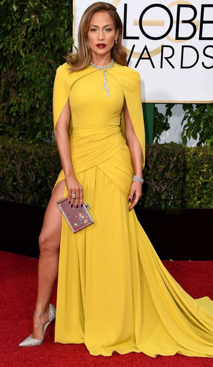 Golden Globes 2016 Abendkleider lang jennifer lopez