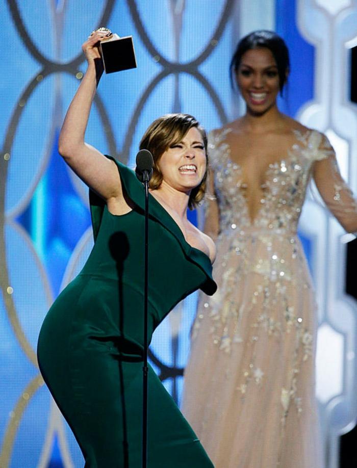 Golden Globes 2016 Abendkleider lang rachel bloom