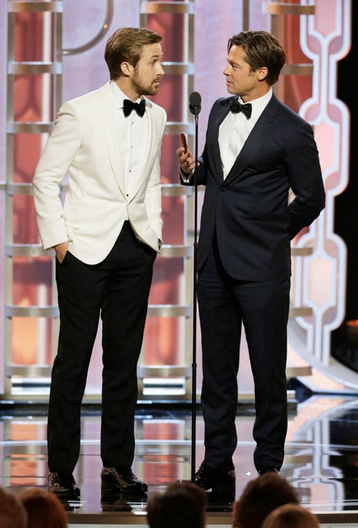 Golden Globes 2016 ryan gosling und brad pitt