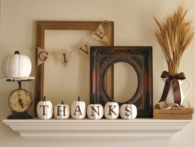 Kaminsims Deko Ideen Thanksgiving Einrichtungsideen Wohnzimmer