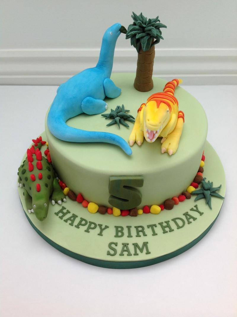 Kinder Tortendeko Geburtstagstorten Bilder Dinosaurier