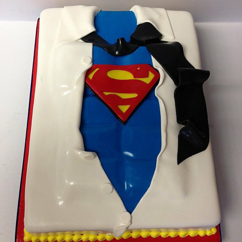 Kinder Tortendeko Geburtstagstorten Bilder Superman Kostüm