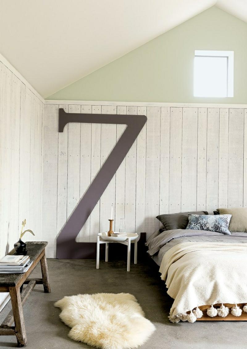 Kreative Einrichtungsideen Schlafzimmer Wanddeko Einrichtungsbeispiele