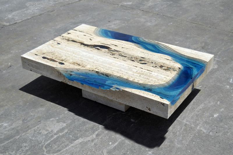 Lagune Couchtisch Wohnzimmertische Alexandre Chapelin La Table
