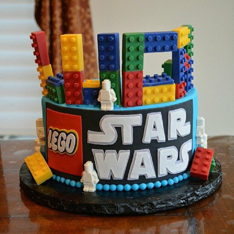 Lego Luke Kindertorte Geburtstagstorten Bilder Tortendeko Star Wars
